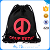 Top quality customize logo printing blank cotton drawstring bag