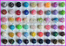 CP5070 Acrylic Crystal Resin Pave Ball Beads,Basketball wives earring beads