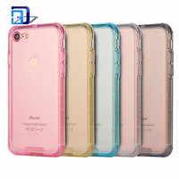 fashion transparent clear soft phone case cover Shockproof TPU mobile phone case for iphone 7