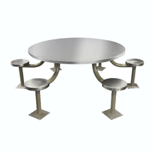Round Stainless Steel Intensive Use Prison Table of Kitchen Table