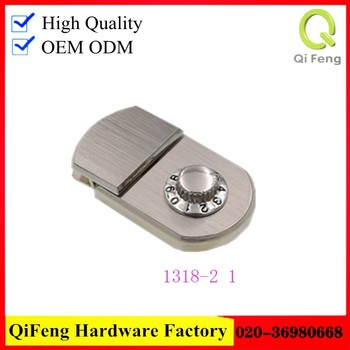 qifeng fashion hardware bag lock ,code case lock 6616#