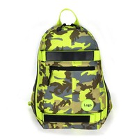 Camouflage fabrics backpack school bag skateboard bag