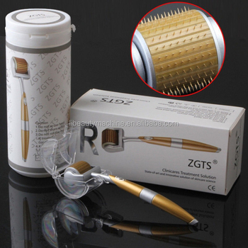 High Quality Zgts Derma Roller Titanium 540 Derma Roller Needles 0.25mm For Skin Care Body Massager