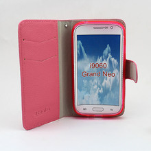 wholesale phone cases wallet leather cover flip case for samsung galaxy grand neo i9060