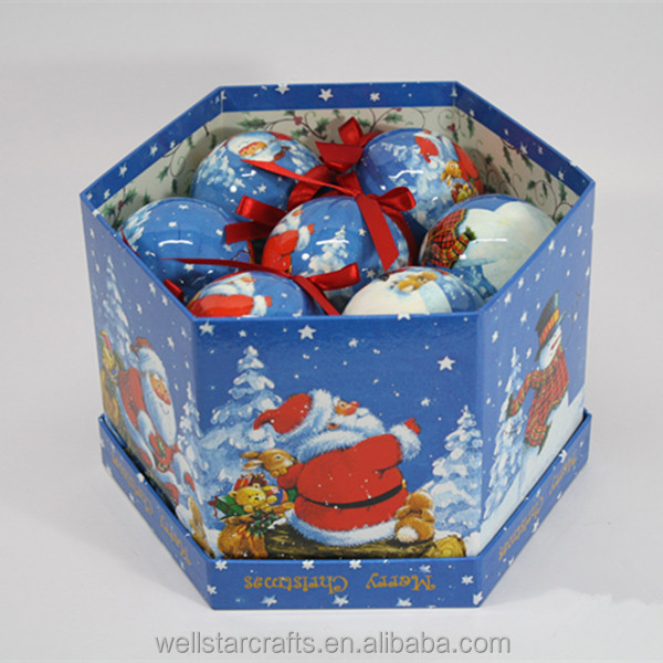 Christmas tree decoration Polystyrene styrofoam Ball craft ball packed with Color Box