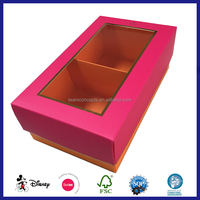 custom creative paper t-shirt packaging box with PVC window