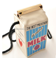 2015 New Cute Design Portable Milk Shape Holder Phone Wallet Lady Bag