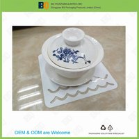 High quality food grade pp plastic coaster and cup mat