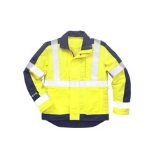 New style Fluorescent <strong>safety</strong> 2-piece pant shirt cotton coverall military jacket