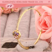 Fashion Beautiful All Bangles Design,Cheap Wholesale 18k Gold CZ Bangles Jewelry