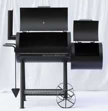 Black SPCC Charcoal/Pellet Grill Outdoor Charcoal BBQ Grill/Smoker