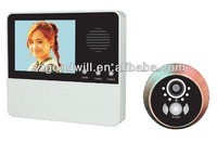Smart 3.2 inch video door peephole viewer with 3 times digital zoom and good night vision GW601D-2AH