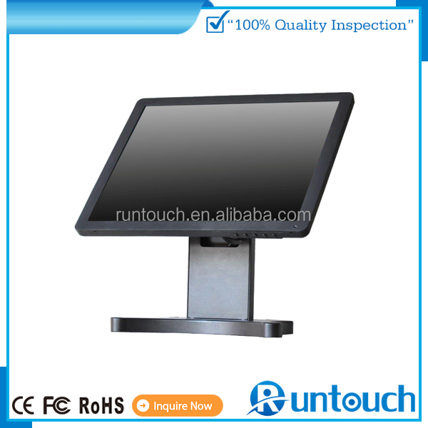 "Runtouch RT-1700 pos monitor manufacturer supply 17"" resistive touch screen Through Glass Touch"