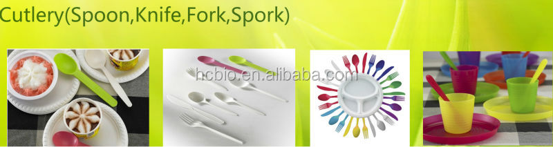 Corn Starch biodegradable cutlery set