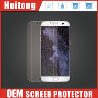 Full cover 3D silicone protector anti fingerprint tempered glass screen guard for Samsung galaxy S7 edge