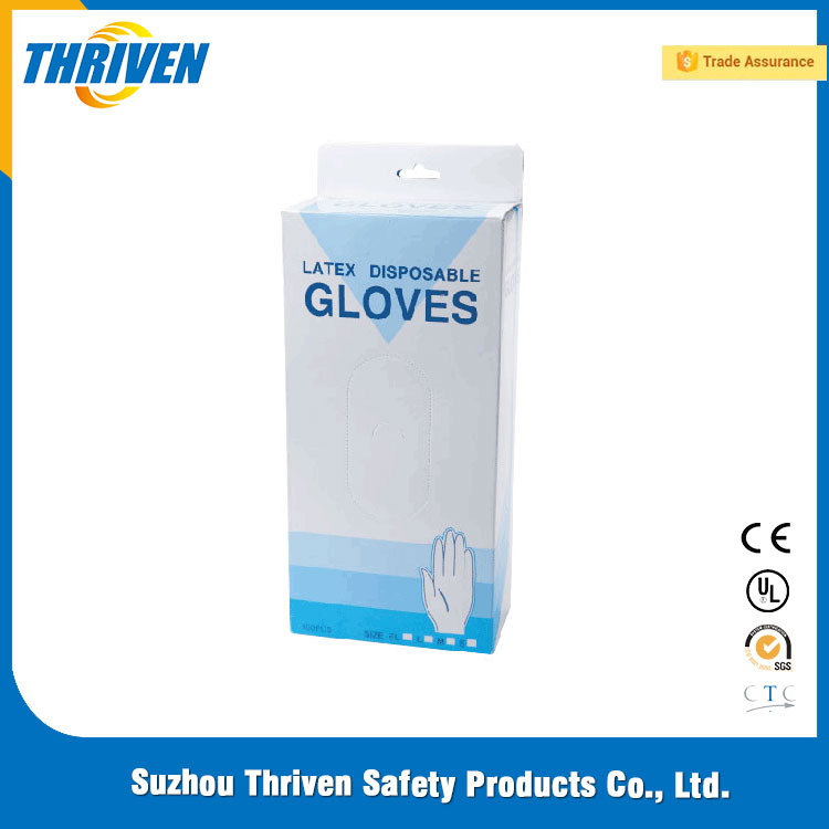 Competitive Price Disposable Examination skin color latex gloves