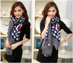 Fashion New Design Dots And Paisley Voile Fashion Scarf/Shawl