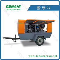 10 bar portable air compressor for diesel power type water well drilling machine