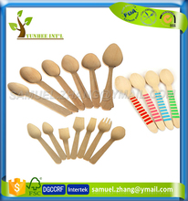 Disposable Mini Dessert Wood Spoon with Custom LOGO