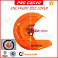 2016 cheap price DIRT BIKE FRONT DISC COVER WITH MOUNT for ktm