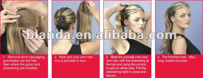 Long Curly Ponytail Extension