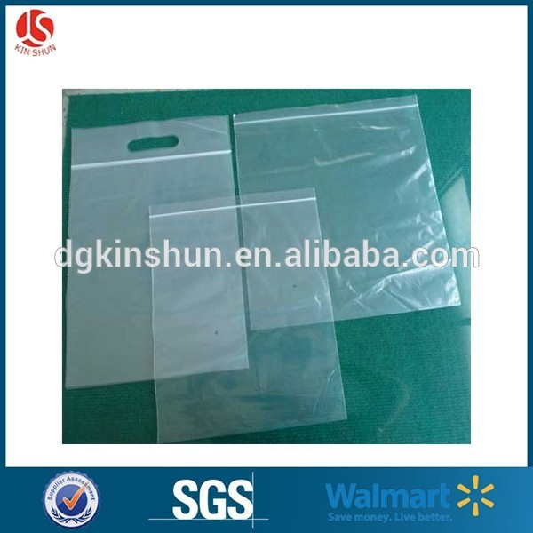 Clear plastic zipper bag with handle logo and zipper lock plastic ziplock bag