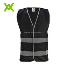 ISO20471 Adult Black Running Reflective Safety Vest For Security