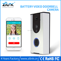 Rechargable cable free video imtercom bell for apartments, wireless doorbell camera battery operated