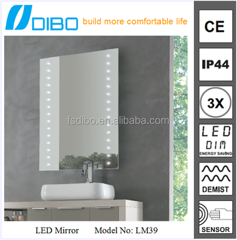 DIBO factory high sales furniture of bathroom series LED led mirror with light