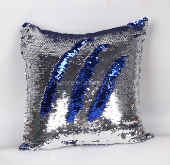 Mermaid reversible sequin throw pillow cushion Two Tone Color Changing Sequin Pillow