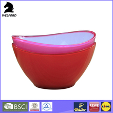 LFGB food grade salad plastic dinner bowl