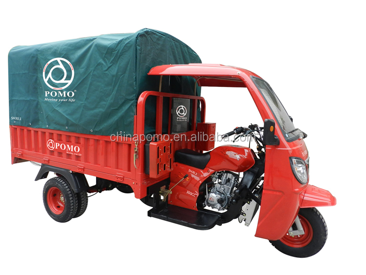 Africa Popular Motorized Water Cooled Cargo 300CC Lifan Trike Tricycle