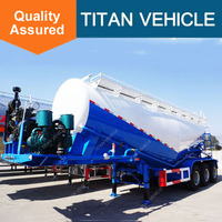Titan Widely Used Tri Axle 60m3 Dry Bulk Cement Trailer For Sale In Pakistan