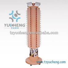[YUCHENG] rotating wood eyeglasses display stands with wheels Y810