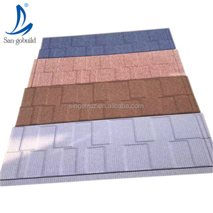 Made in China roof tile thermal insulation material stone coated steel roofing shingles solar panel board hot sale in Africa
