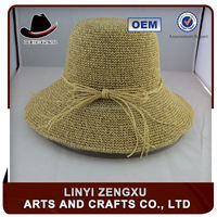 Professional factory crochet straw child hat