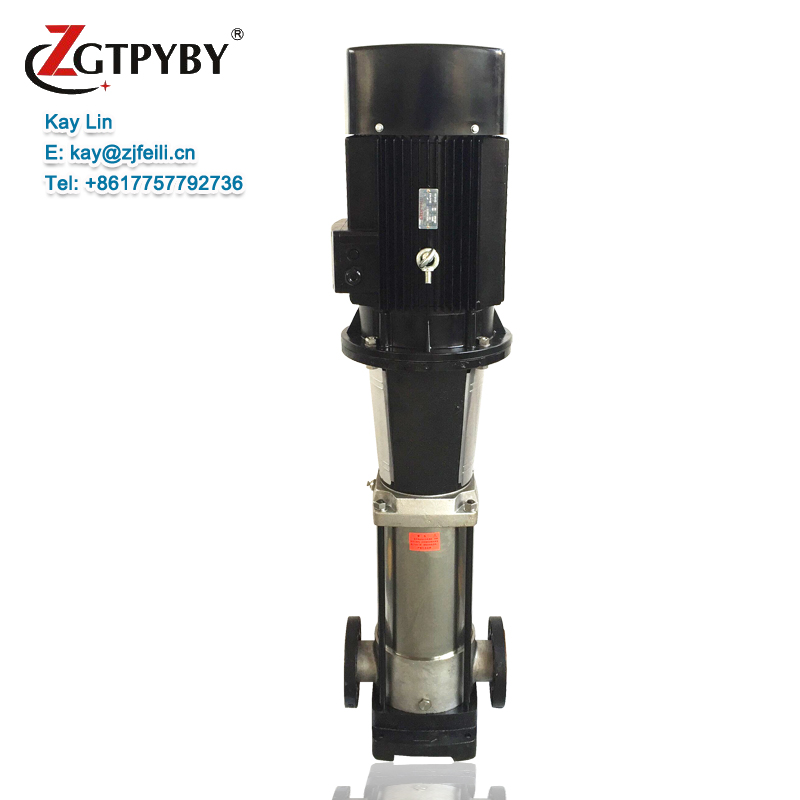 3phase 440V inline stainless steel water pump electric motor driven centrifugal pump for pipeline pump system