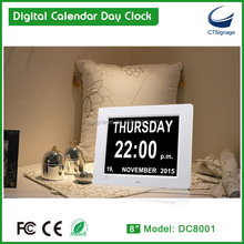 "CTsignage 8"" date and day flip clock day clock for dementia wholesale price"