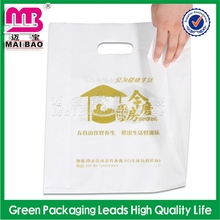 various colorful factory supply die cut clear handle bag