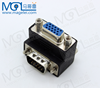 90 Degree Angle Male To Female 15PIN VGA Screw Adapter Connector For LCD TV