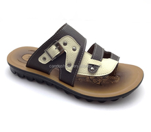 Stylish 2018 new men leather sandals arabic leather sandal men