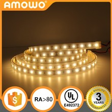 DC12V 24V Ra80 30leds 2.4W 3528 IP68 ultra thin smd led strip light waterproof LED strip with UL Listed
