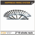 "Good price 2"" 19 shots Roman candle fan-shape aluminum fireworks display rack"