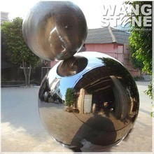 Polished Metal Large Hollow Stainless Steel Garden Ball