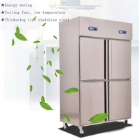 stainless steel commercial refrigerator freezer medical refrigerator freezer hotel refrigerator freezer