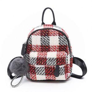 43790922c178 TIANHOUBAG cute girl mini women woolen tweed wholesales school bag new  fashion backpack