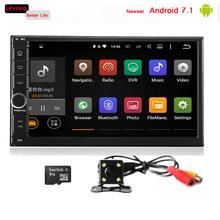 Newest android 7.1 car gps navi dvd for hyundai sonata v6 gold new ef sonata sonica 2GB RAM 16GB ROM quad core cheap price