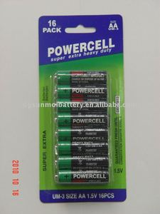 R6p 1.5v aa zinc carbon battery for controls