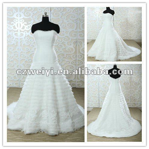 WY10085 2012 lovely bridal high quality taiwan wedding dress manufacture