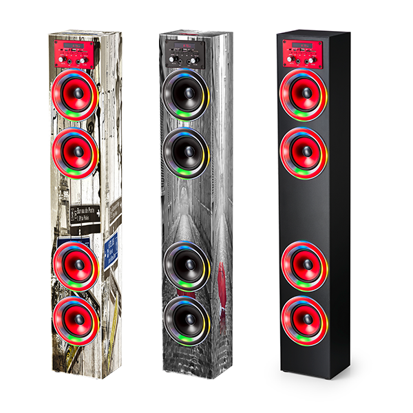 2019 China factory HIFI 2.0 home theatre Tower speaker with colorful LED Light